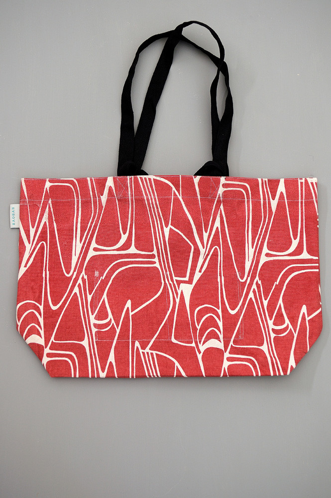 TOTE BAG L FIFTY ROUGE