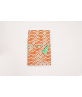 CARNET A5 TISSU MISS / ORANGE