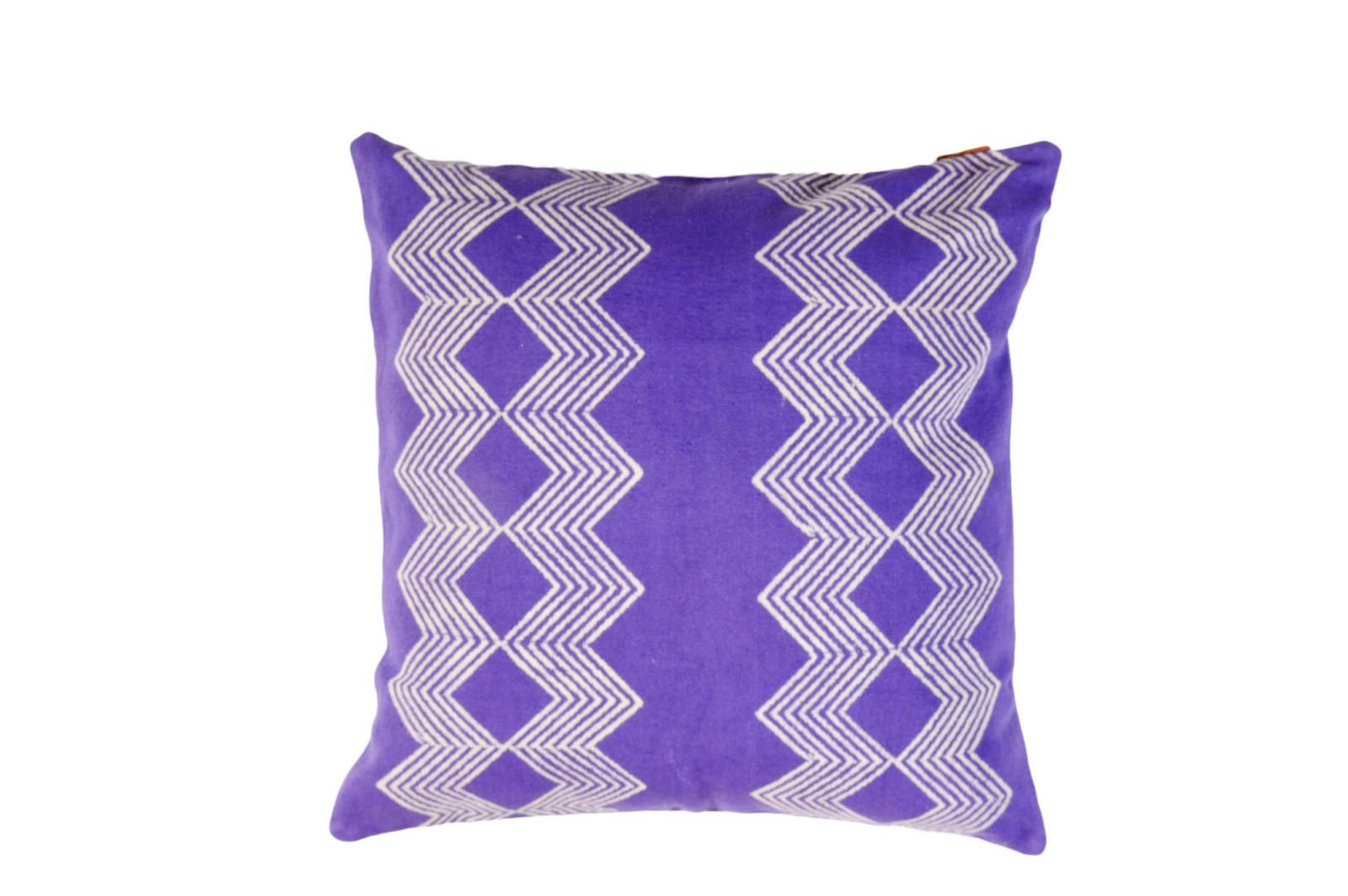COUSSIN 50x50 CHANDIGARH / violet bleu