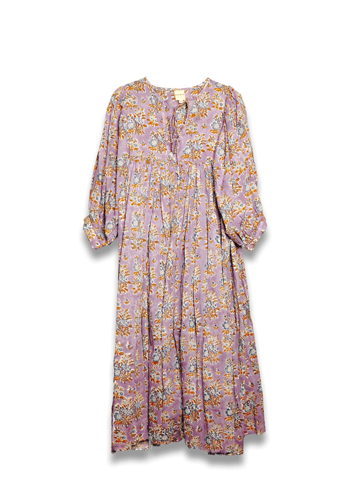 Robe ample ANGY imprimé floral lilas
