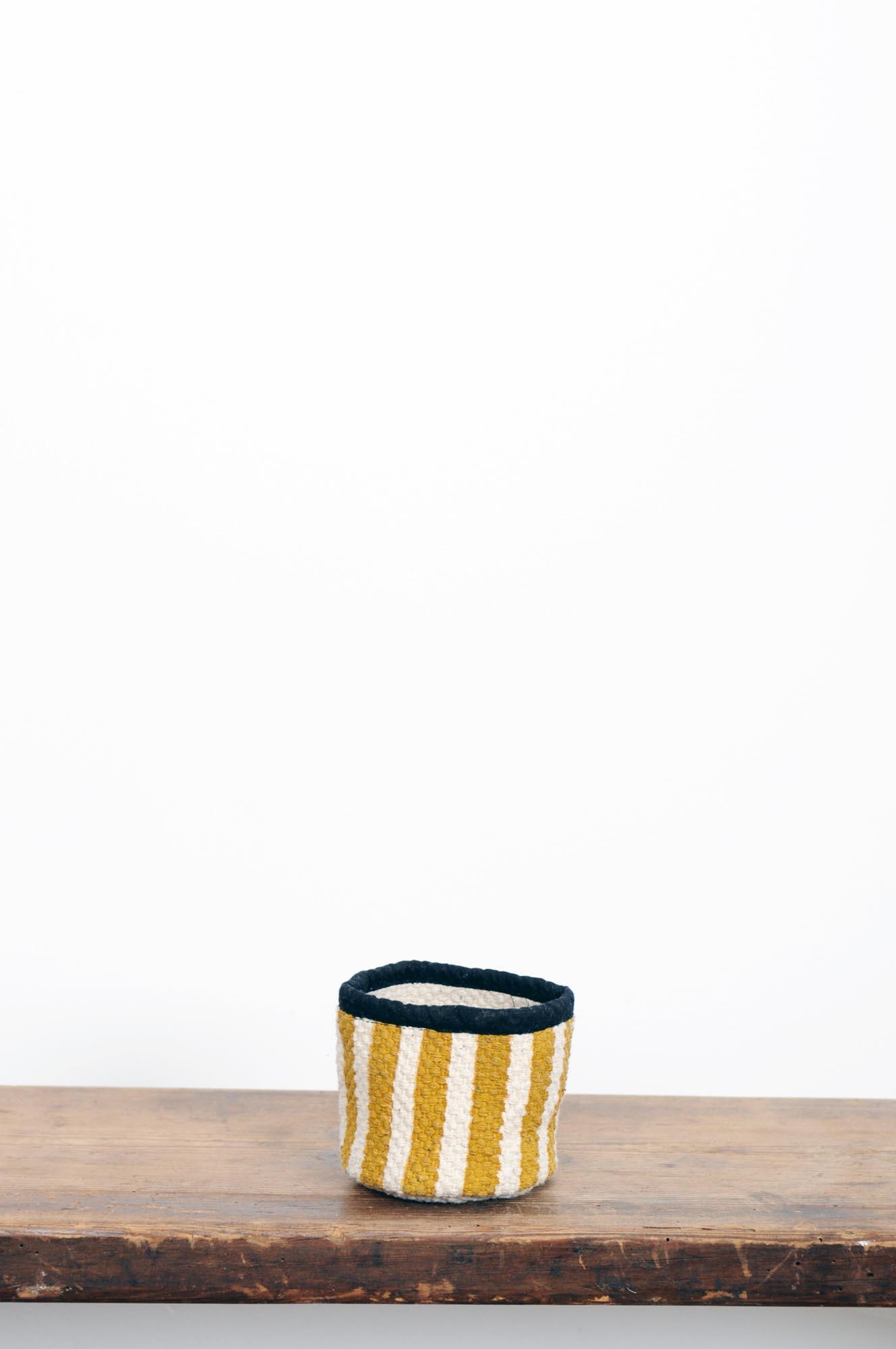 PANIERE SMALL / ocre jaune
