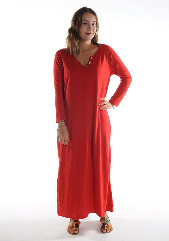 Robe longue ZINA / Rouge