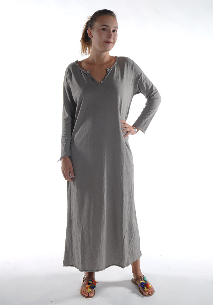 Robe longue ZINA / Taupe