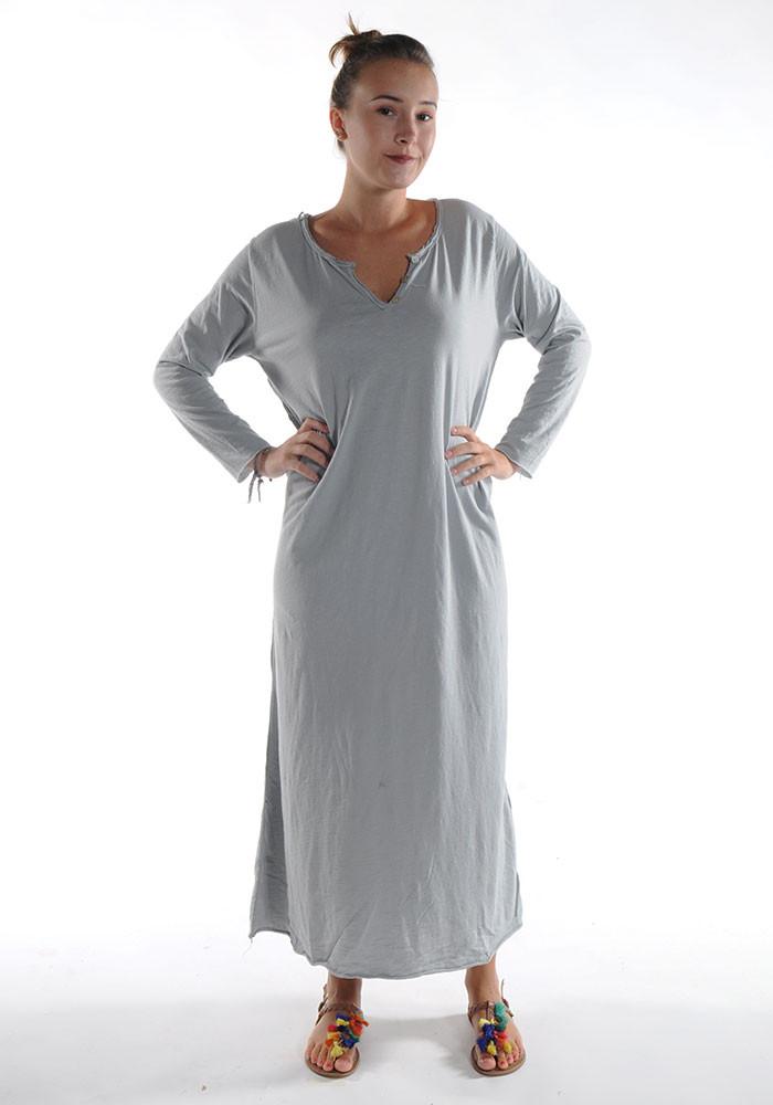 Robe longue ZINA / Gris clair