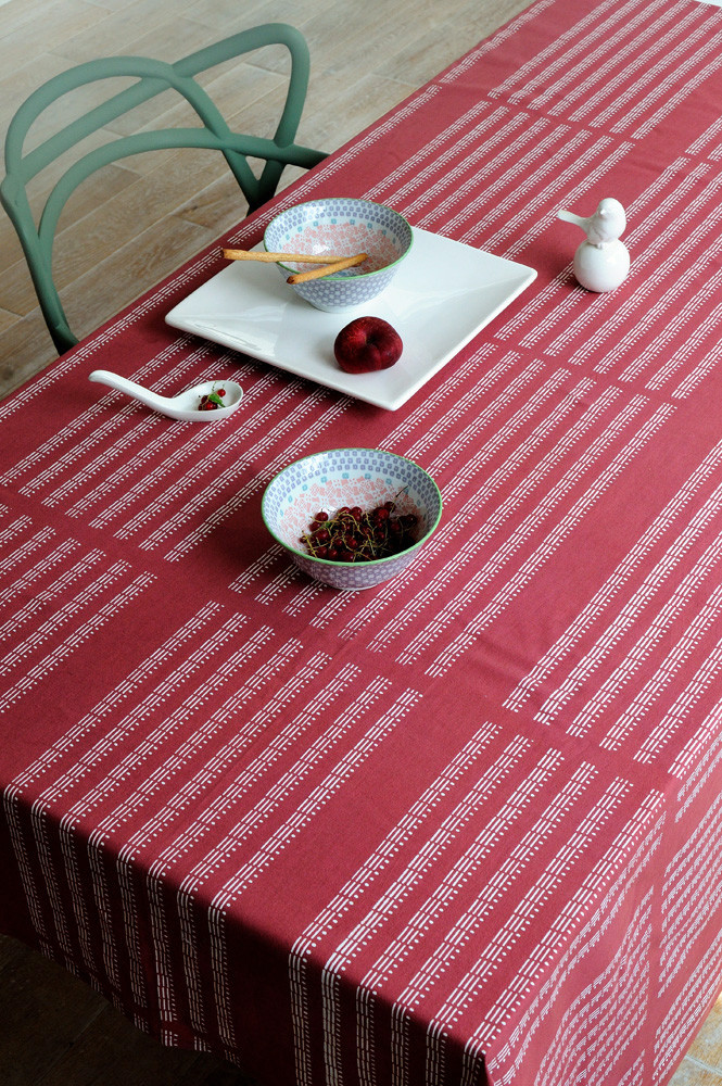 NAPPE ALL OVER 170x250 GRENAT