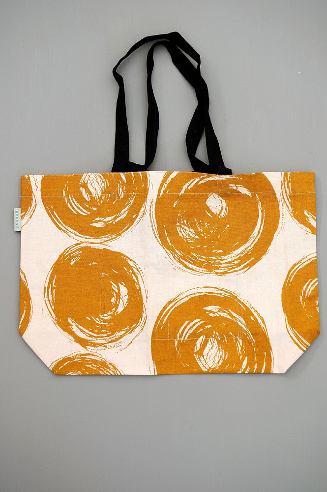 TOTE BAG L DONNA MOUTARDE