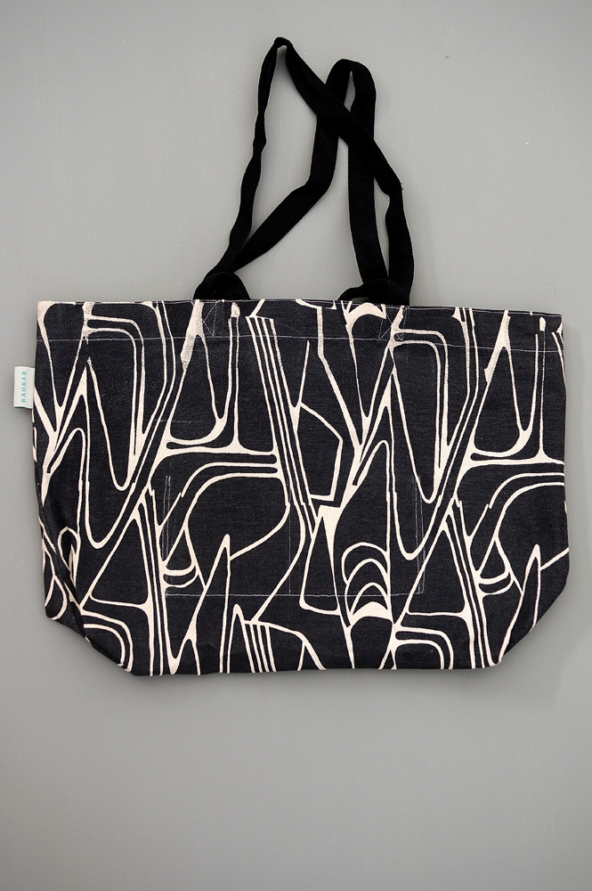 TOTE BAG L FIFTY NOIR