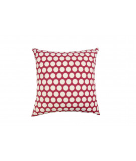 COUSSIN 50x50 DOTTY ROUGE
