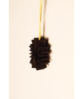 Pendentif bois noir