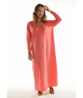 Robe longue ZINA / Corail