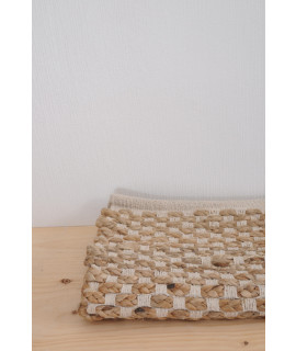 Tapis Damier Naturel 120x180