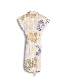 Robe SABINA manches courtes Bloc Colors