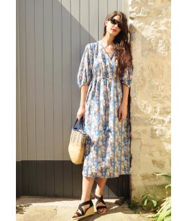 Longue robe ROMEA / Bleue