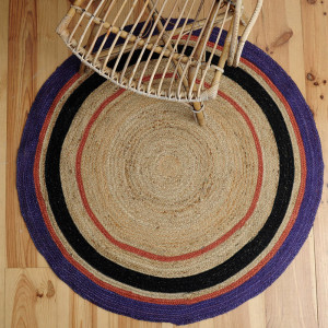 Tapis Sofia en jute  / Grape
